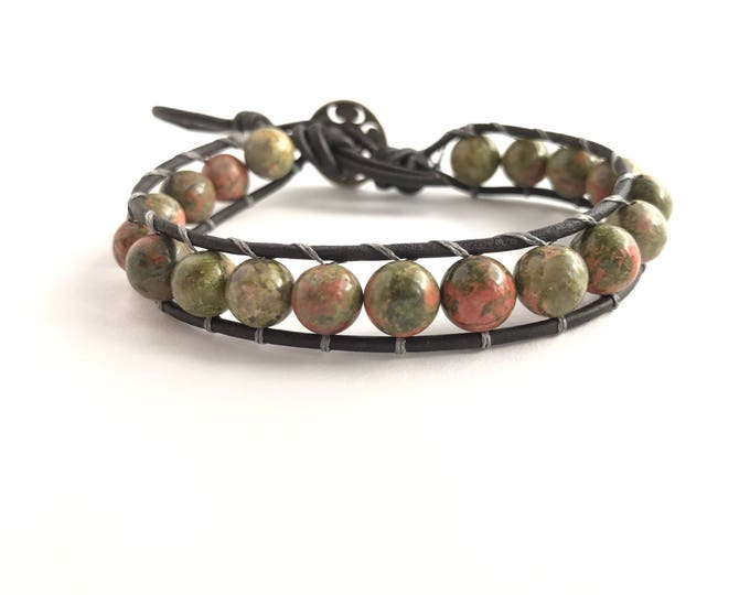 SALE - Rose garden beaded wrap bracelet, beaded wrap bracelet , bohemian bracelet, sale