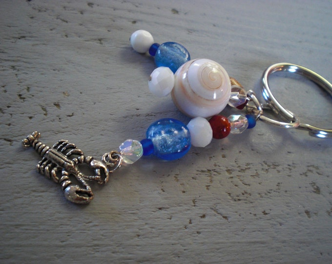 SALE was16 now 8 nautical lobster key chain
