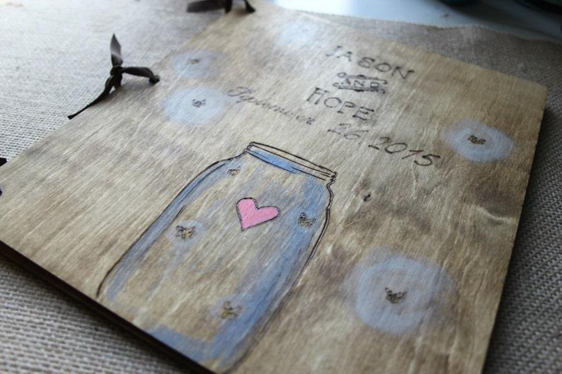 Wood Guest Book Wedding Guest Book Wedding Album Gift for Couple Wedding Guestbook Wedding Gift Custom Guest Book Rustic Guestbook