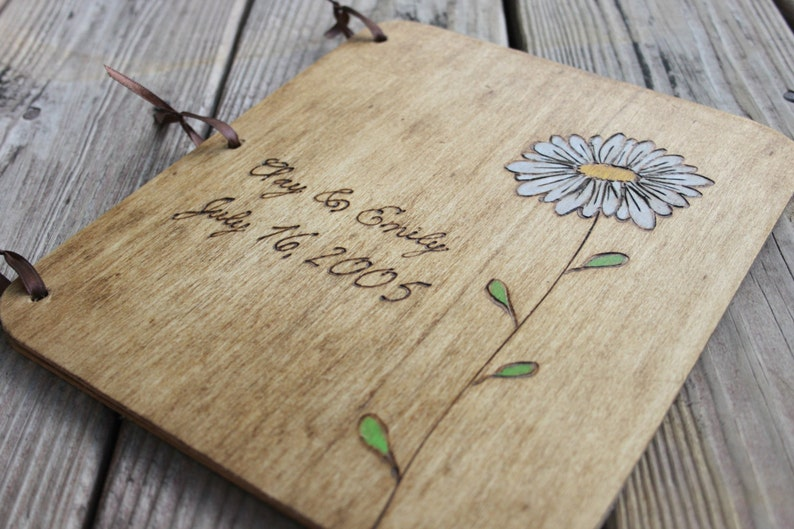 Custom Guest Book Rustic Guestbook Wedding Guest Book Wedding Guestbook Wedding Gift Gift for Couple Wedding Album Wood Guest Book