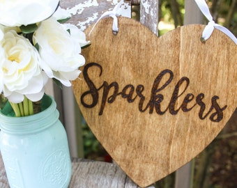 Sparkers Sign - Wedding reception sign - Rustic wedding decor - Rustic wedding sign