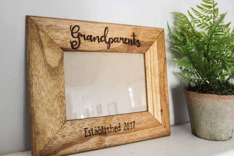 Grandparents picture frame rustic home decor photo frame custom picture frame- cousin frame picture frame personalized frame