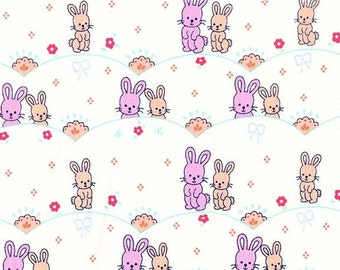 Clearance FABRIC BUNNY LOVE  by Michael Miller 1/2 Yard