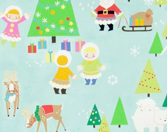 Clearance FABRIC Silly CHILLY CHRISTMAS by Alexander Henry  1/2 Yard