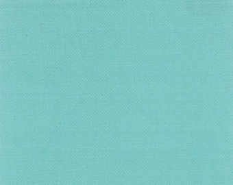 FABRIC SOLID RETRO Aqua Bella Cotton by Moda 1/2 yard