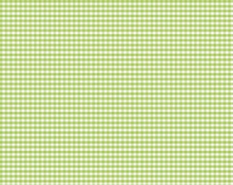 """FABRIC GINGHAM Green SMALL check 1/8"""" by Riley Blake   We combine shipping"""