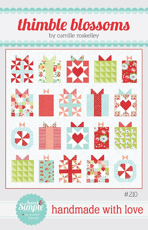 Pattern Handmade With Love Christmas Presents Quilt We Etsy