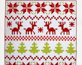 PATTERN CHRISTMAS QUILT Nordic Fair Isle Quilt