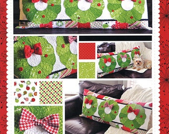 Clearance PATTERN DECK The HALLS Bench Pillow cover interchanagable