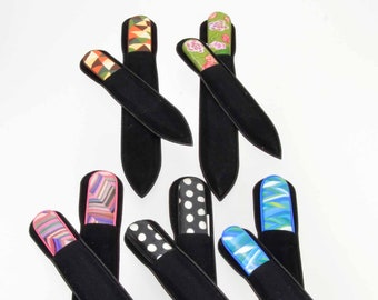 Czech Crystal Nail File Set - Decorative Nail File Set - Nail Art Gift - Glass Nail File Set- Great Gift - Gift under 30 - Manicure Gift