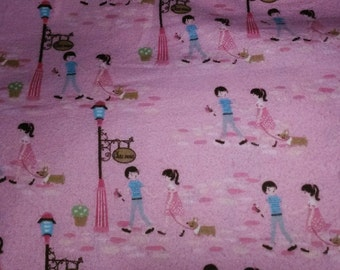 Love Pink cotton Snuggle Flannel sold by the yard 42 inches wide