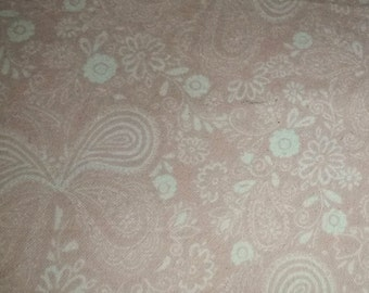 Pink Sketched Butterfly cotton Snuggle Flannel sold by the yard 42 inches wide
