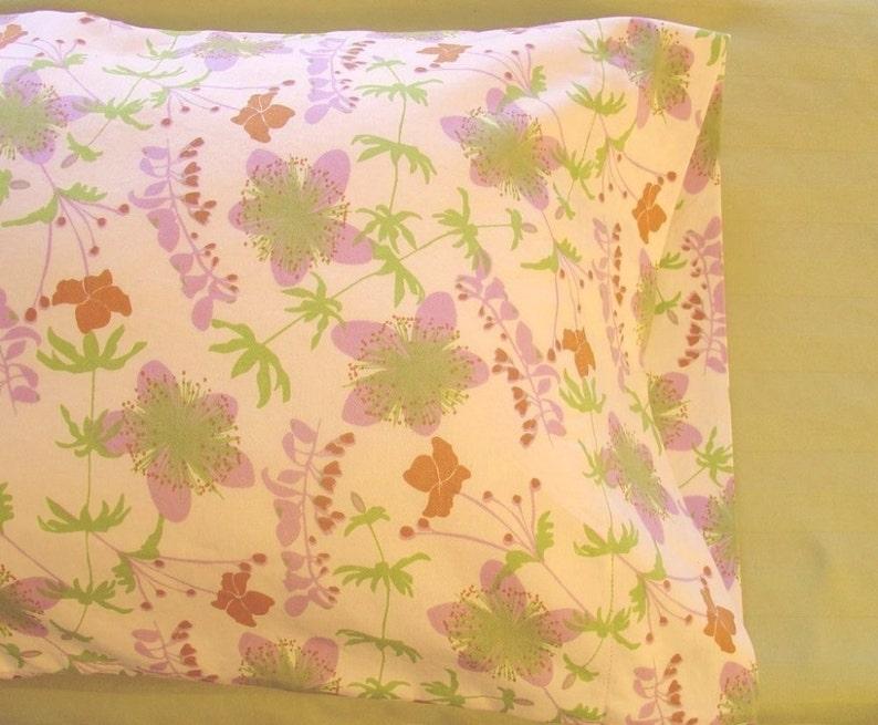 Garden Floral ORGANIC Cotton Pillowcase ToddlerTravel-Sized