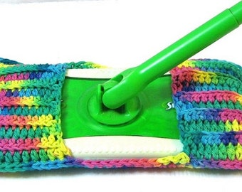 Mop Cover, Spring Cleaning, Housewares, Duster, Cleaning Supplies, London,Ontario,Eco Friendly, Zero Waste, Psychedelic