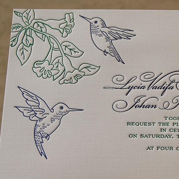 Matchy Matchy Letterpress Invite And Handmade Envelope: Letterpress Wedding Invitation Sample Wedding Invitation