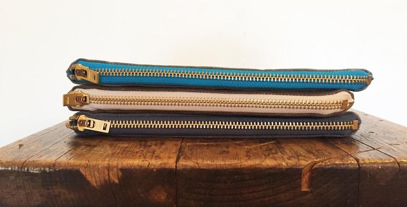 Waxed Canvas Zipper Pouch