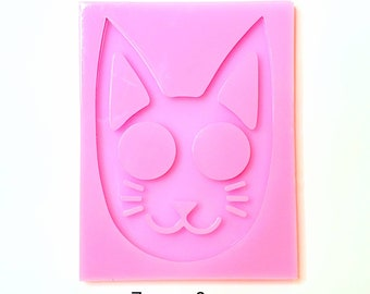 Silicone Kitty Face Keychain Mold