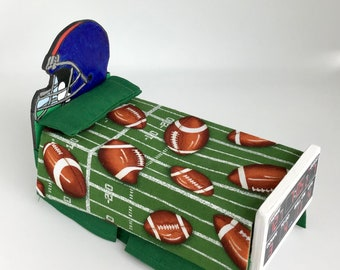 Dollhouse Miniature 1:12 Scale Hand Made Football Twin Bed