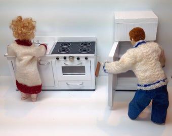 Dollhouse Miniature Handmade, Original Pattern, Kitchen Appliances in 1/12 Scale