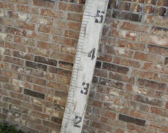 Growth Chart, Ruler Style, Distressed White, Growth Chart, Height Chart, Wood Growth chart, wooden Height Chart, Big Ruler