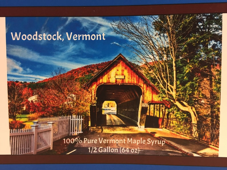 2019 Our Town Series WOODSTOCK VERMONT 1/2 Gallon Vermont image 0