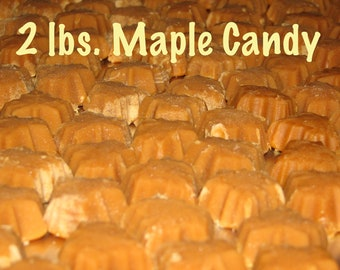 FREE SHIPPING  2 lbs 100% Pure Vermont Maple Candy all natural no preservatives