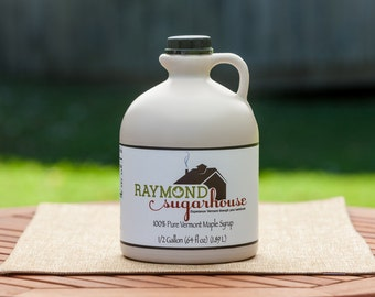 2021 1/2 GALLON 100 Percent Pure Vermont Maple Syrup with FREE SHIPPING