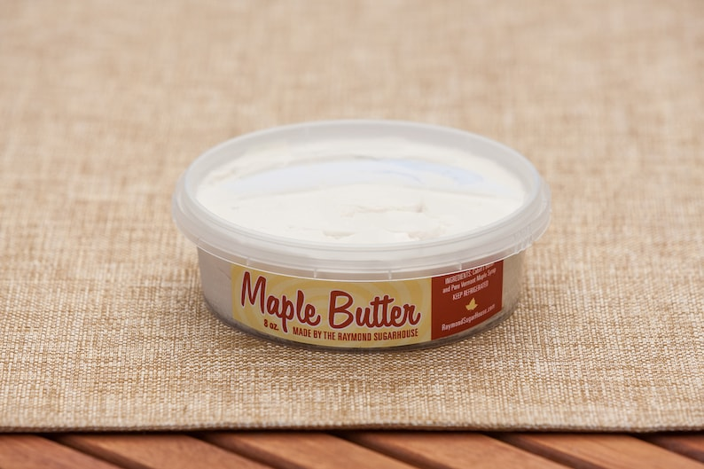 FREE SHIPPING 2 Vermont Maple Butter 8 oz. each PERFECT image 0