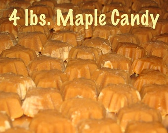 FREE SHIPPING 4 lbs. Pure Vermont Maple Candy