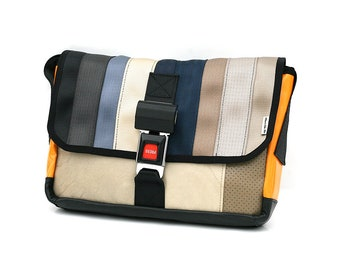 10b48d78cc 905D Messenger bag from RECYCLED car seatbelt