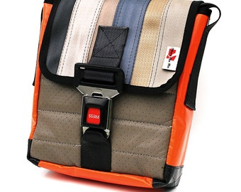 416D Shoulder bag made from RECLAIMED car seat belt and car seats by Mariclaro (416D)