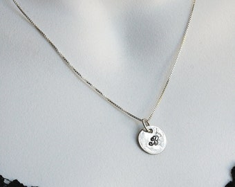 Sterling Initial Charm Necklace  Personalized by I Heart This