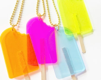Kids Popsicle Necklace, Trendy Necklace for Kids
