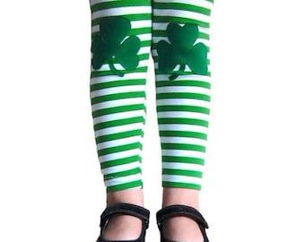 Baby St Patricks Leggings, Green Shamrock leggings, Babys First St. Patricks Day
