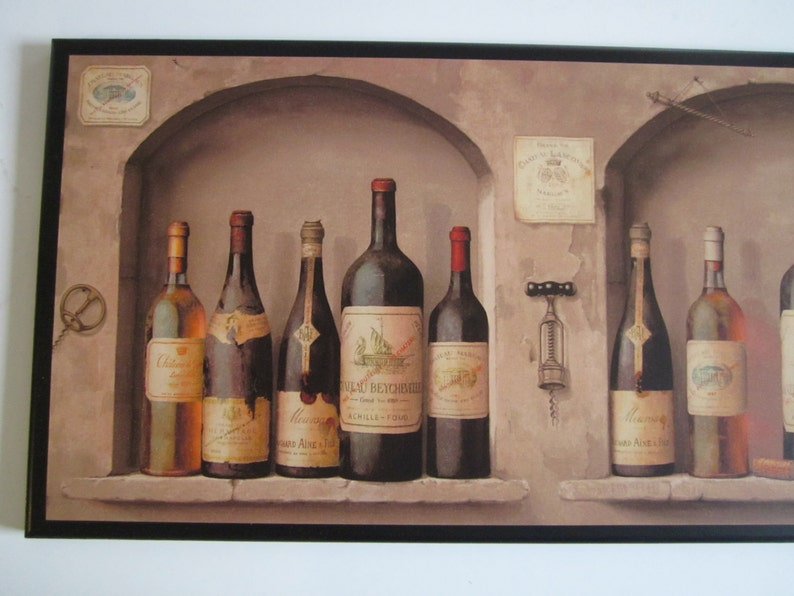 Wine Lovers Kitchen Wall Decor Plaque Brown Tuscan Arches French European  theme picture, Italian Tuscany