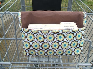 Waterproof Coupon Organizer Yellow Floral Fabric