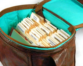 "Coupon Pocketbook Mega 6"" single wide Organizer Ultra Suede Faux Leather"
