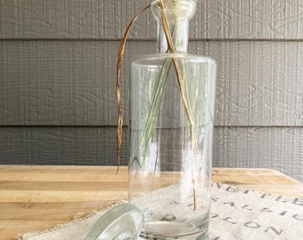 Vintage Clear Glass Apothecary Jar with Stopper