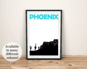 Phoenix Print // Arizona Art Print // Phoenix Arizona // Phoenix Art // Phoenix Poster // Brother Gift // Sister Gift // Moving Away Gift
