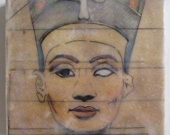 animal activist Ali Macgraw portrait painting actress 70/'s icon artist portrait encaustic painting