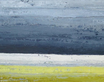 Abstract landscape oil painting, landscape painting, blue gray cloud painting, upstate new york painting, storm painting