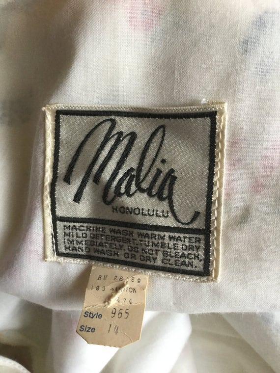 70's Malia of Honolulu Maxi Dress. Prairie Dress.… - image 5