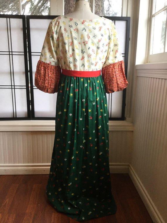 70's Malia of Honolulu Maxi Dress. Prairie Dress.… - image 4