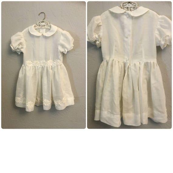 Witte Jurk Op Een Bruiloft.Kinder Witte Jurk Little Girl Bruiloft Vintage Ring Meisje Etsy