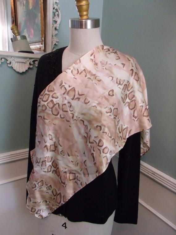 Vintage 60's Silk Scarf. 50's 60's Designer Silk S