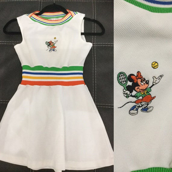 70's 80's Girl's Disney Minnie Mouse Tennis Dress