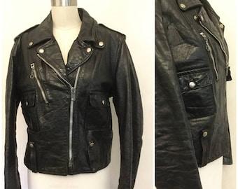 Vintage Harley Davidson Biker Jacket 40 Regular. Unisex Leather Jacket