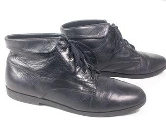Granny boots flat | Etsy