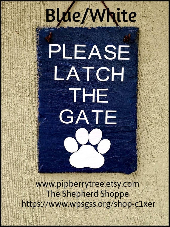 Please Close The GateVinyl lettering Decorative Slate Sign with Paw PrintsPlease Close The Gate Dog Sign Close The Gate Pet Slate Sign