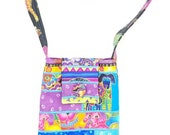 Small Batik Purse in Laurel Burch Dogs with Adjustable Straps